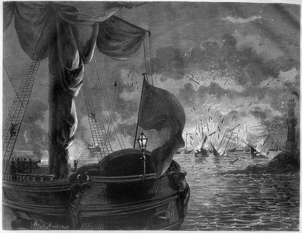 8 ноября 1772 года во время Русско-турецкой войны 1768-1774 годов в  Патрасском заливе у берегов Греции состоялось Патрасское морское сражение.